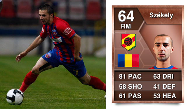 János Székely is by far the top Romanian Pace Abuse player in FIFA 13. Bronze player with 82 PACE.